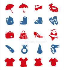 color block icon set - accessories