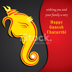 creative ganesh chaturthi festival greeting card background