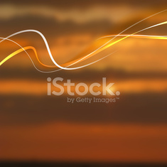Beautiful abstract lights over sunset blur background.