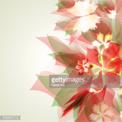 Abstract artistic Background with red floral element