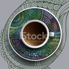 Vector illustration with a Cup of coffee