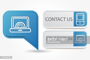 Computer and,phone sign,vector