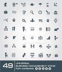 universal business management icon set for working,vector