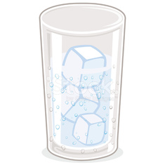 Cold glass of water