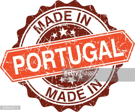 Made in Portugal vintage stamp isolated on white background