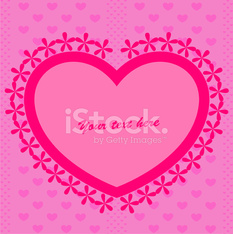 Sfondo Rosa Con Cuore Stock Photos Vectorhqcom
