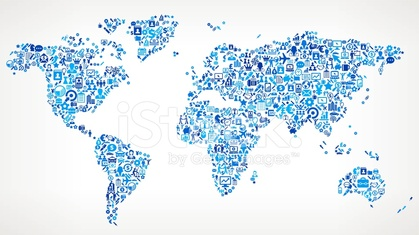 World Map on Business royalty free vector art Pattern