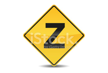 Icon Traffic Sign Alphabet Font Z