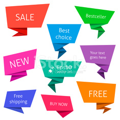 Set of flat speech bubbles