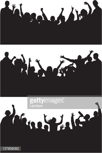 Curved Happy Crowds