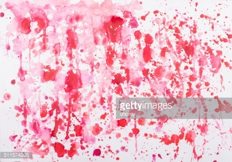 Abstract watercolor aquarelle hand drawn red drop splatter stain art