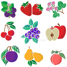 various fruits icons