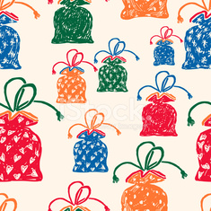 pattern of the gifts bags