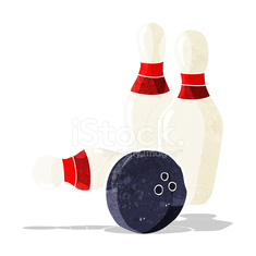 Deset Pin Bowling Kresleny Stock Photos Vectorhq Com
