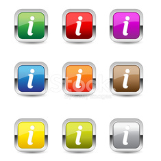 Info Square Vector Blue Web Icon Set Button