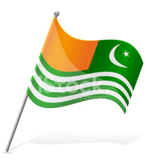 flag of Azad Kashmir vector illustration