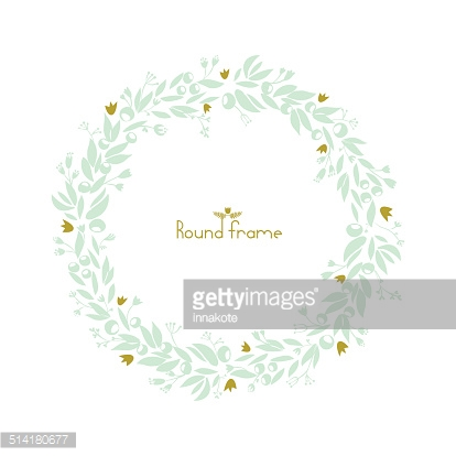 Beautiful round floral frame.