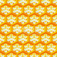 Abstract geometrical 3d background. Seamless pattern.  Mosaic.