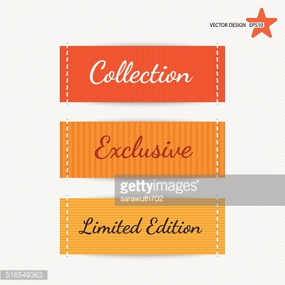 Clothing labels. Vector.