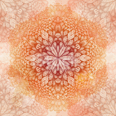 Seamless pattern with ornate flower