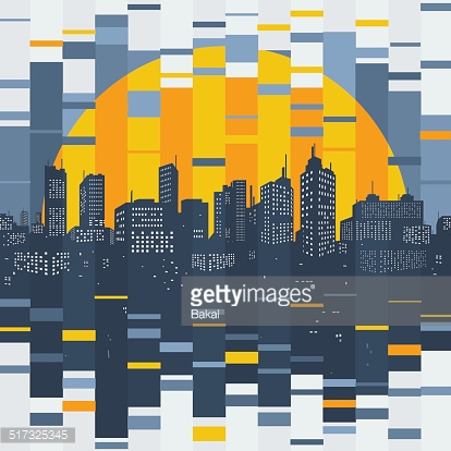 Mosaic evening city
