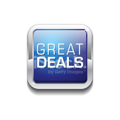 Great Deals Blue Vector Icon Button