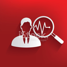 Business man symbol on red background,clean vector