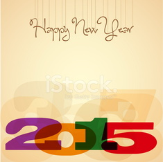 2015, Happy New Year Greeting Design Layout In Vector Format