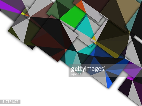 Rectangles on colorful abstract background.