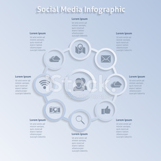 Infographic design social networking