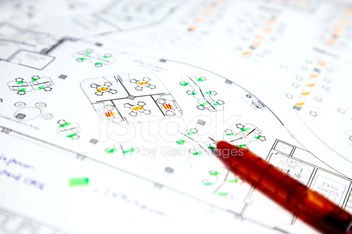 architectural technical project drawing plan