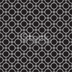 Seamless Abstract Geometric Texture Pattern in Black and White