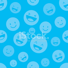 Seamless Pattern : Faces, Smileys, Happy