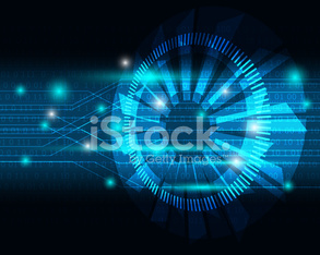 Abstract Blue Light Technology Background Vector
