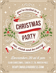 Hand Drawn Christmas Party Invitation