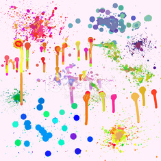 ink and paint spatter set