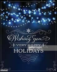 Holiday Lights Background with Frame and Greeting