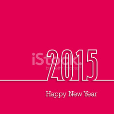 Happy new year 2015 paper postcard.