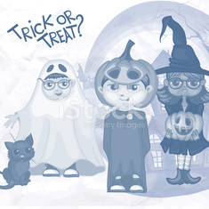 Halloween Children Trick Or Treating