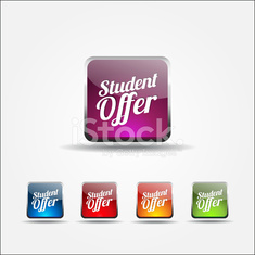 Student Offer Colorful Vector Icon Design