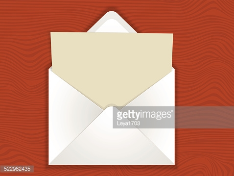 envelope with blank