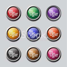 Big Offer Colorful Vector Icon Design