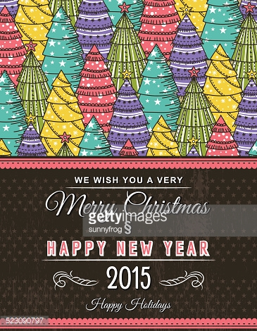 background with forest of christmas trees, vector