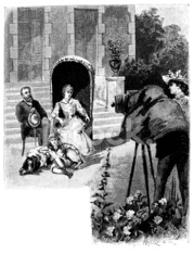 Antique illustration of photographer in action