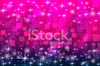 Christmas background, snowflakes and shiny stars