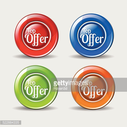 Top Offer Colorful Vector Icon Design