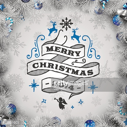 White Christmas Wishes with Wreath Border