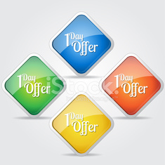1 day Offer Colorful Vector Icon Design