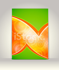 Flyer, brochure or magazine cover template