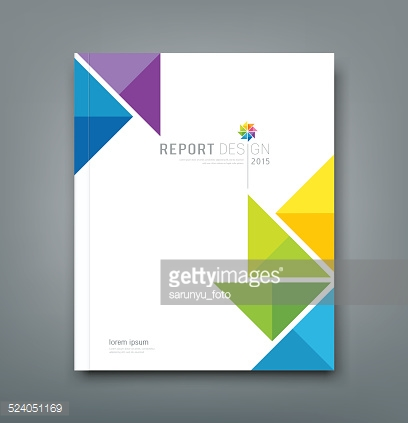 Cover Annual report colorful windmill origami paper